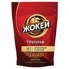 """Кофе растворимый ЖОКЕЙ """"Триумф"""", сублимированный, 450 г, мягкая упаковка"""