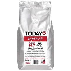 """Кофе в зернах TODAY Espresso """"Blend №7"""", натуральный, 1000 г, вакуумная упаковка"""