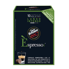 Капсулы для кофемашин NESPRESSO, Lungo Intenso, натуральный кофе, 10 шт. х 5 г, VERGNANO