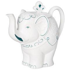 """Чай HILLTOP """"Подарок Цейлона"""", черный листовой, 80 г, фарфоровый чайник """"СЛОН ТОПАЗ"""", 650 мл"""