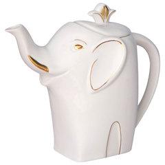 """Чай HILLTOP """"Королевское Золото"""" черный листовой, 80 г, фарфоровый чайник """"СЛОН ЗОЛОТО"""" 700 мл"""