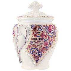 """Чай HILLTOP """"Подарок Цейлона"""", черный листовой, 100 г, керамическая чайница """"СЛОН"""""""