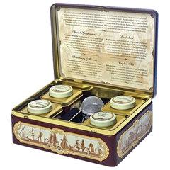"""Чай HILLTOP """"Морская"""", коллекция листового чая и заварная ложка-ситечко в шкатулке, 200 г"""
