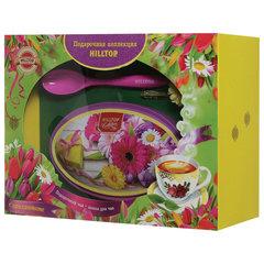 """Чай HILLTOP """"Волшебная луна"""", черный листовой, 100 г, с ложечкой для чая в подарочной упаковке """"ЛЕТНИЕ ЦВЕТЫ"""""""