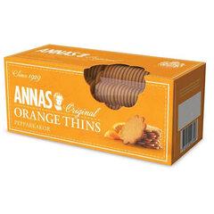"""Печенье песочное апельсиновое тонкое ANNAS """"Orange Thins"""" (Швеция), 150 г"""