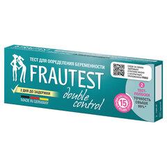 Тест на определение беременности FRAUTEST DOUBLE CONTROL, тест-полоска, 2 шт.