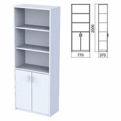 "Шкаф полузакрытый ""Арго"", 770х370х2000 мм, 2 двери, 4 полки, серый"