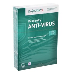 "Антивирус KASPERSKY ""Anti-Virus"", лицензия на 2 ПК, 1 год, бокс"