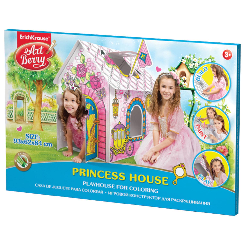 """Домик игровой для раскрашивания ERICH KRAUSE Artberry """"Домик принцессы"""", картонный, 93х84х62 см, 39232"""