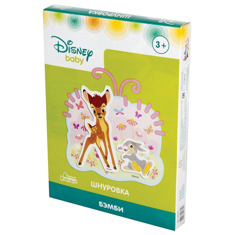 """Шнуровка """"Бэмби"""", по лицензии Disney, """"Десятое королевство"""", 01879"""