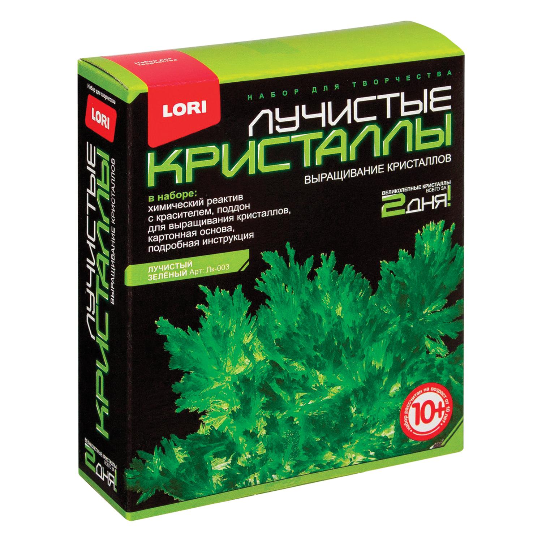 """Набор для изготовления лучистых кристаллов """"Зелёный кристалл"""", реагент, краситель, основа, LORI, Лк-003"""