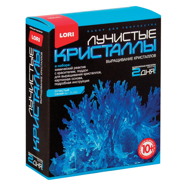 """Набор для изготовления лучистых кристаллов """"Синий кристалл"""", реагент, краситель, основа, LORI, Лк-002"""