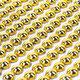 """Стразы самоклеящиеся """"Круглые"""", цвет золото, 6 мм, 247 шт., на подложке, ОСТРОВ СОКРОВИЩ, 661570"""
