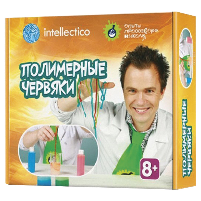 """Набор для экспериментов """"Опыты профессора Николя. Полимерные червяки"""", INTELLECTICO, 853"""