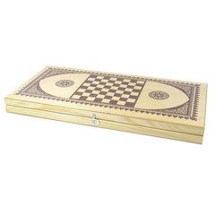 """Игра настольная """"Нарды"""", деревянные фишки, деревянная доска 40х40, 10 КОРОЛЕВСТВО"""