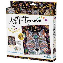 """Алмазная мозаика Арт-Терапия """"Ночной волк"""", более 1000 элементов, 20х20 см, ORIGAMI, 03214"""