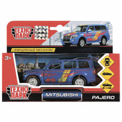"Машина металлическая ""MITSUBISHI PAJERO"", 12 см, инерционная, ТЕХНОПАРК, SB-17-61-MP-S-WB"
