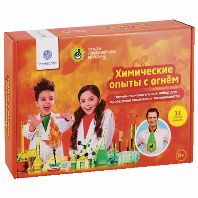 """Набор для экспериментов """"Химические опыты с огнем"""", INTELLECTICO, 831"""