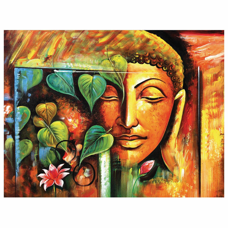 """Картина по номерам 40х50 см, ОСТРОВ СОКРОВИЩ """"Будда"""", на подрамнике, акрил, кисти, 663339"""