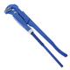 Ключ трубный рычажный №0, СИБРТЕХ, литой, регулируемый захват 5-28 мм, L=250 мм, 15757
