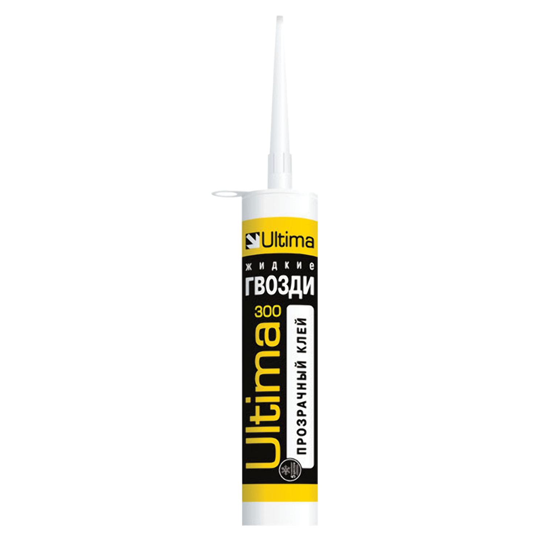 Жидкие гвозди ULTIMA 300, для внешних и внутренних работ, цвет прозрачный, картридж, 300 г, ADHES30025
