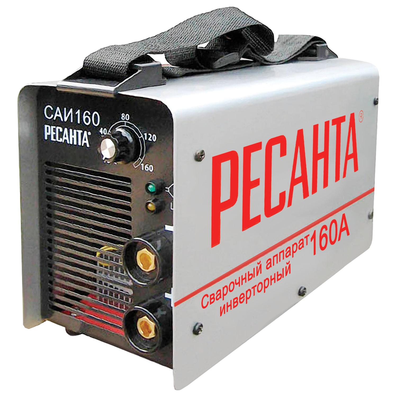 Сварочный аппарат инверторный САИ 160 РЕСАНТА, сварочный ток до 160 А, диаметр электрода до 4 мм