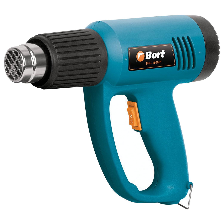Фен технический, 1500 Вт, 300-500 градусов, 240-420 л/мин, BORT BHG-1600-P