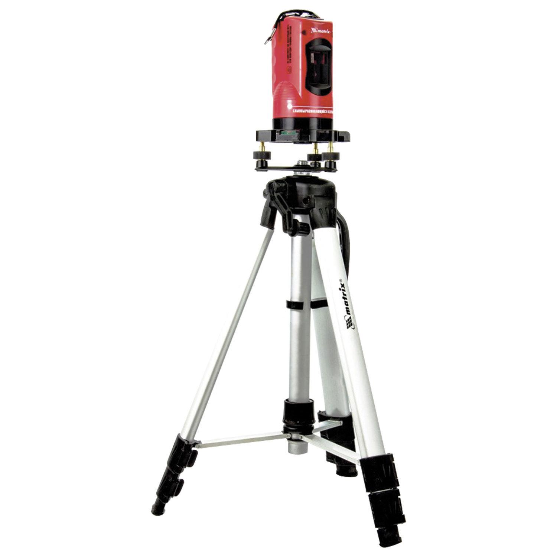 Уровень лазерный 150 мм MATRIX, самовыравнивающийся штатив 1150 мм, пластиковый кейс, 35033