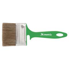 Кисть плоская 70 мм, смешанная щетина, пластиковая ручка, для работ по дереву, MATRIX, 83375