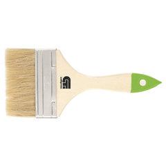 Кисть плоская 100 мм, натуральная щетина, деревянная ручка, для масляных красок, лаков, СИБРТЕХ, 82266