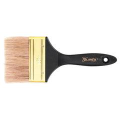 """Кисть плоская 100 мм, натуральная щетина, деревянная ручка, масляные краски, лаки, """"ПРОФИ"""", MATRIX, 83155"""