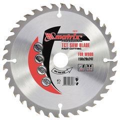 Пильный диск по дереву, 185х20 мм, 36 зубьев + кольцо 16/20, MATRIX Professional, 73278