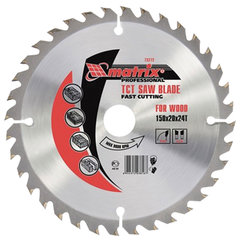 Пильный диск по дереву, 190х30 мм, 48 зубьев, MATRIX Professional, 73219