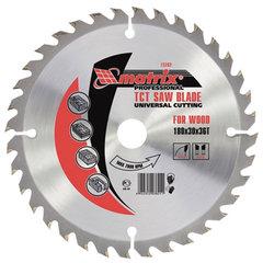 Пильный диск по дереву, 210х30 мм, 36 зубьев, MATRIX Professional, 73290