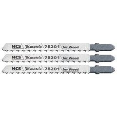 Полотна для электролобзика по дереву, 3 шт., T101B, 75х2,5 мм, HCS MATRIX Professional, 78201