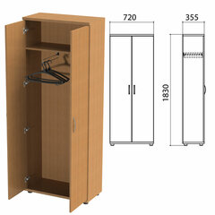 Шкаф для одежды «Эко», 720х355х1830 мм, бук бавария (КОМПЛЕКТ)